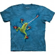 Frosch Kinder T-Shirt  Frog Tongue
