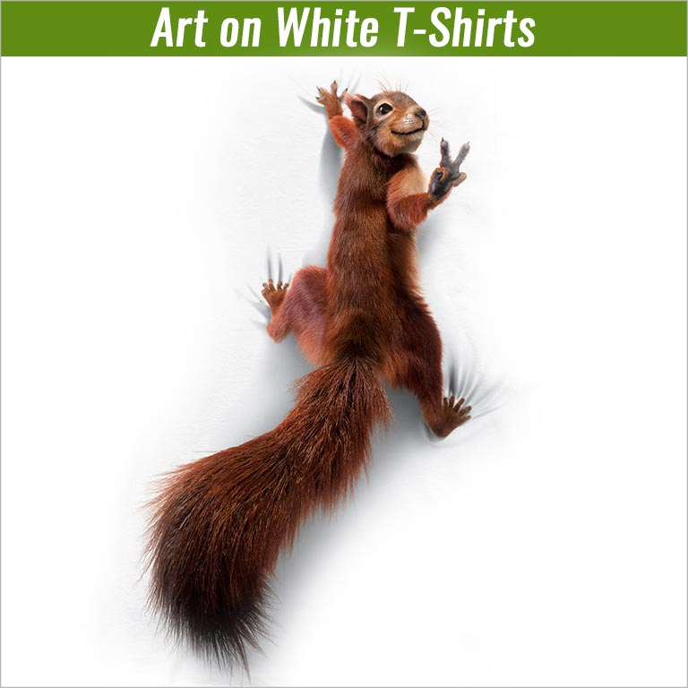 Art on White T-Shirts