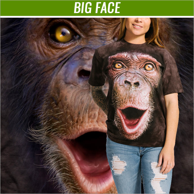 The Mountain Big Face T-Shirts jetzt kaufen