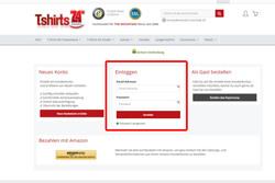 Sofern Du bereits ein Kundenkonto erstellt hast kannst Du dich unter dem Punkt -Einloggen- anmelden