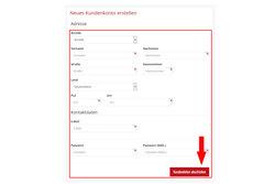 Fülle alle Felder aus und klicke auf -Kundendaten abschicken-