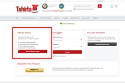 Wähle bitte den Punkt -Neues Konto- aus wenn Du ein Konto eröffnen möchtest