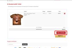 Wenn sich alle gewünschten Artikel in Ihrem Warenkorb befinden klicke auf Weiter zur Bestellung