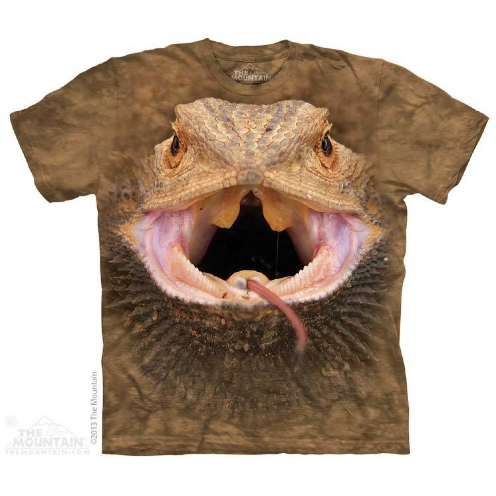 Bartagame T-Shirt Big Face Bearded Dragon