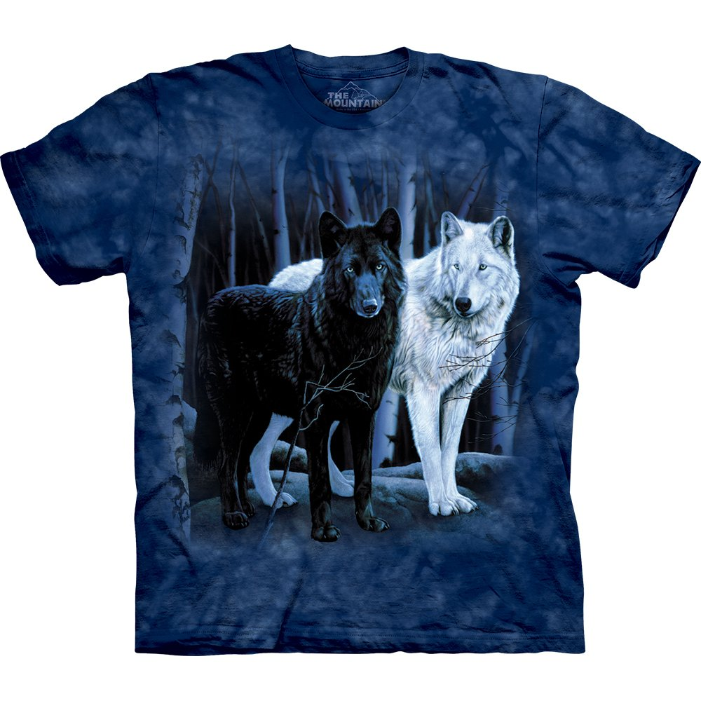 wolf t shirt black white wolves 24 90 the mountain sh. Black Bedroom Furniture Sets. Home Design Ideas