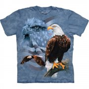 Adler T-Shirt Faded Flag and Eagles