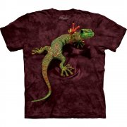 Echsen T-Shirt Peace Out Gecko