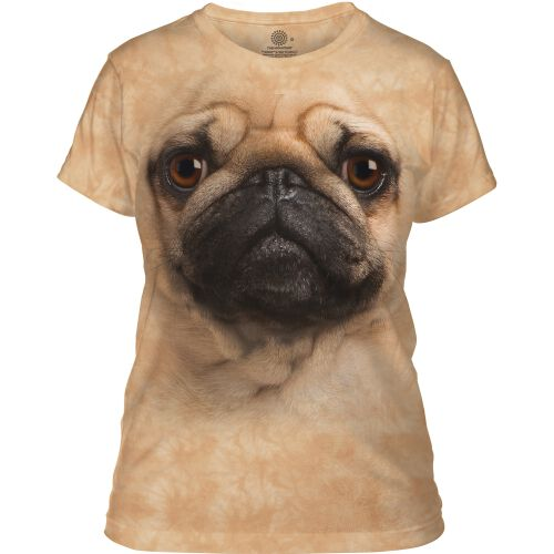 Damen T-Shirt Pug Face