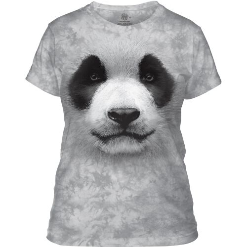 Damen T-Shirt Big Face Panda