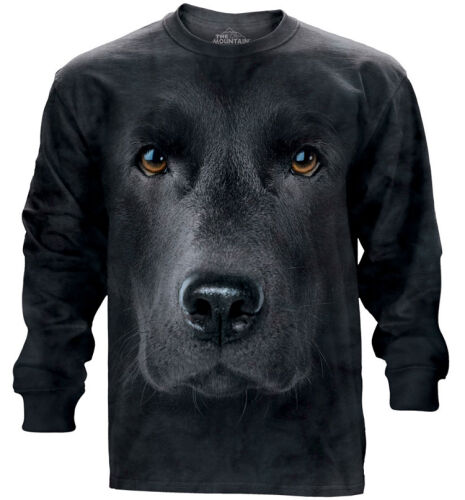 The Mountain Langarmshirt Black Lab Face