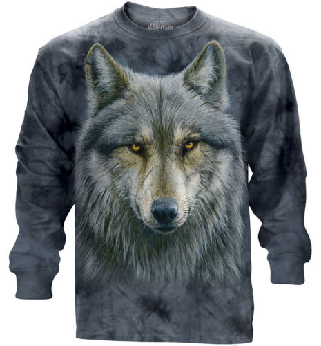 The Mountain Langarmshirt Warrior Wolf