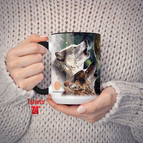 fa0a4c9ea86fb1 Kaffeetasse mit Wolfmotiv kaufen  Wolfmotiv Tasse Three Wolf Moon   Kaffeetasse mit Wolfmotiv aus ...