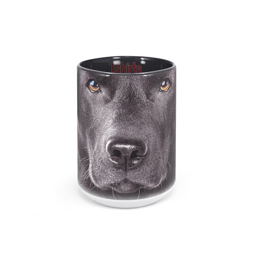 Labradormotiv Tasse Black Lab Face