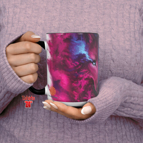 Wolfmotiv Tasse Where Light and Dark Meet