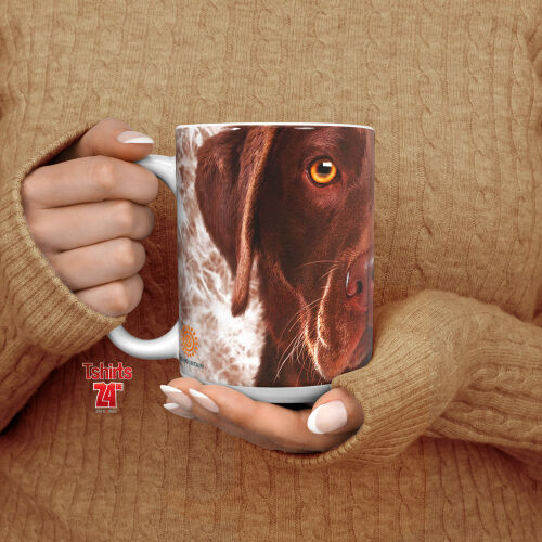 Labradormotiv Tasse Chocolate Lab Face