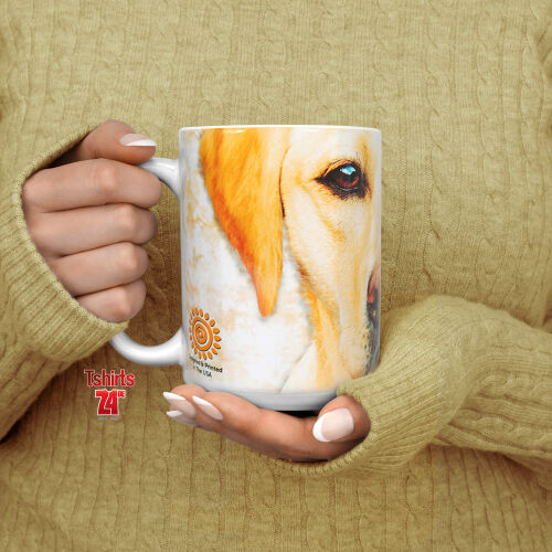 Labradormotiv Tasse Yellow Lab Portrait