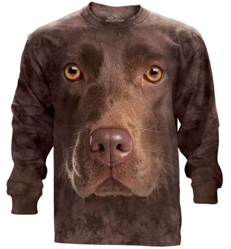 The Mountain Langarmshirt Chocolate Lab Face