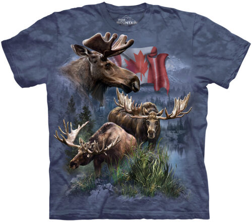 Elch T-Shirt Canadian Moose Collage M