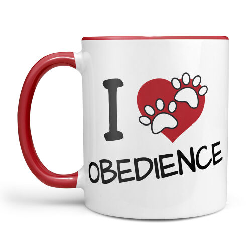 Hundesport Tasse I Love Obedience
