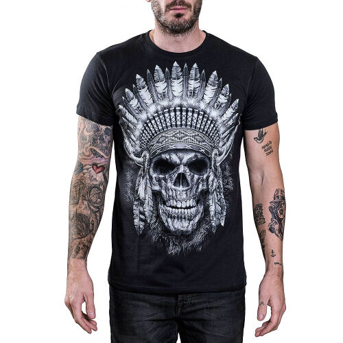 Cool Skullz T-Shirt Native American Skull