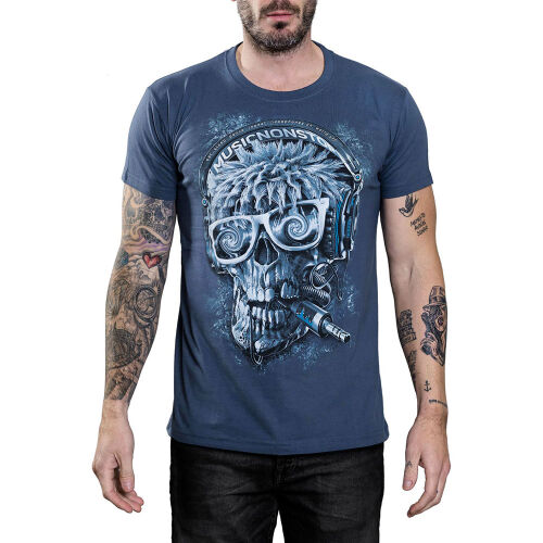 Cool Skullz T-Shirt Hardcore DJ Skull