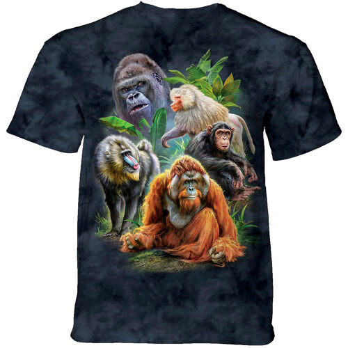 The Mountain T-Shirt Primates Collage