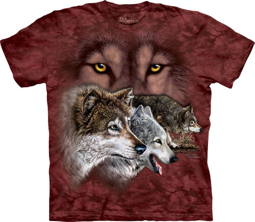 Wolf T-Shirt Find 9 Wolves 2XL