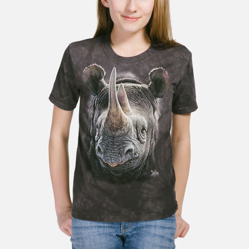 Nashorn Kinder T-Shirt Black Rhino