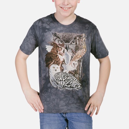 Eulen Kinder T-Shirt Find 11 Owls