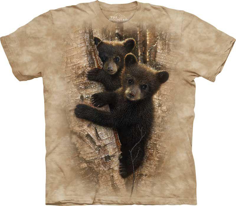 kinder t shirt zwei neugierige b ren tshirts. Black Bedroom Furniture Sets. Home Design Ideas