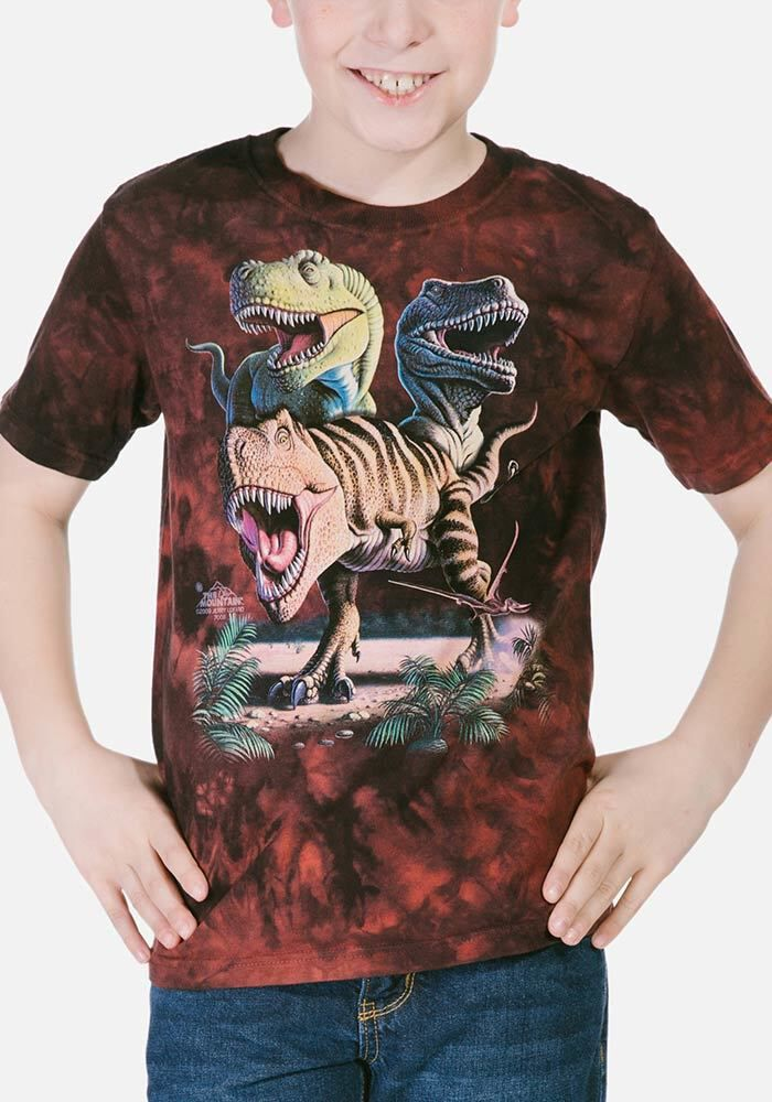 dinosaurier kinder tshirt rex collage  tshirts24de